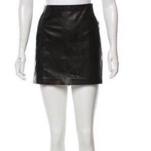Madison Martin Margiela Black Leather Mini Skirt